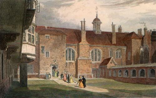 Queens College Second Court (Restrike Etching) by Frederick MacKenzie
