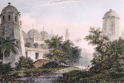 Cuttera at Muxadavad (Restrike Etching) by William Daniell