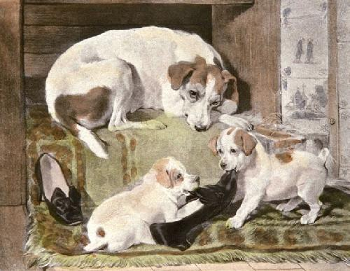 Hunt the Slipper (Restrike Etching) by Edwin Douglas