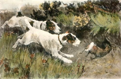 A Matter of Inches (Restrike Etching) by Arthur Wardle