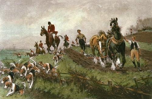 Hunting Morning, A (Hot Scent) (Restrike Etching) by Wright