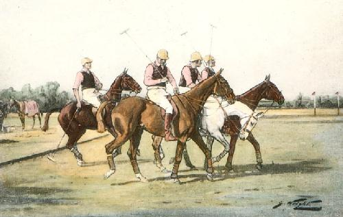 First Chukka, The (Restrike Etching) by Wright