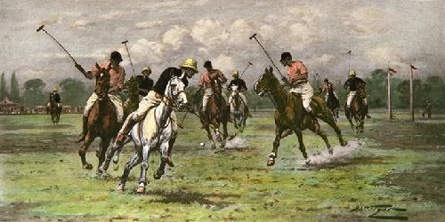 Backhander Stops a Rush, A (Restrike Etching) by Wright