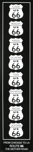 Route 66 (Black & White) by Rod Kennedy