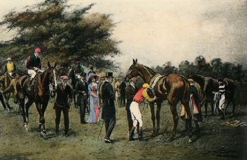 Likely Winner, A (Restrike Etching) by Wright