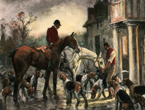 After a Long Day (Restrike Etching) by Wright