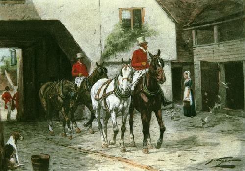 In The Olden Days (Restrike Etching) by Wright