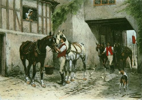 Coaching Days (Restrike Etching) by Wright
