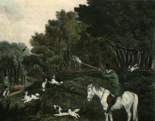 Pheasant Shooting (Restrike Etching) by Anonymous
