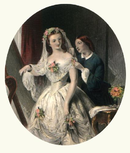 The Bride (Restrike Etching) by A. Solomon