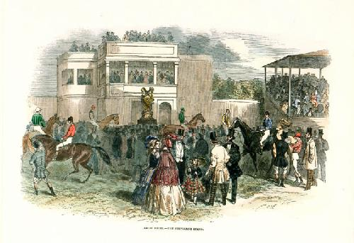 Ascot Races (Stewards' Stand) (Restrike Etching) by Anonymous