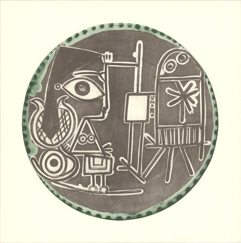 Jacqueline au Chevalet, 1956 by Pablo Picasso