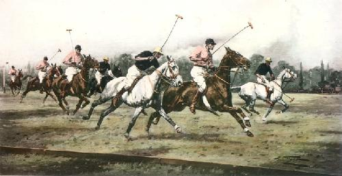 Gallop on the Boards (Restrike Etching) by Wright