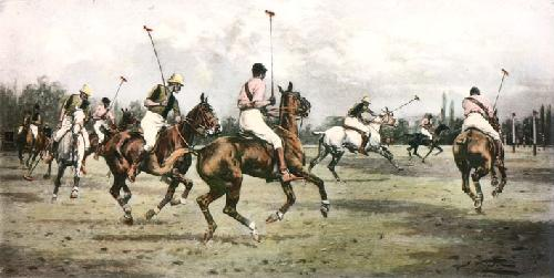 Getting Away with the Ball (Restrike Etching) by Wright