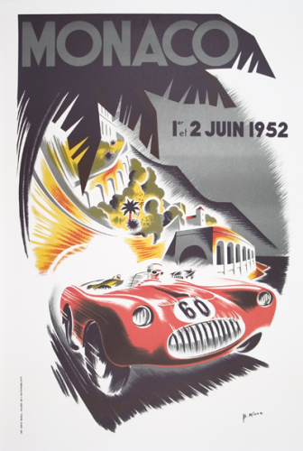 Monaco Grand Prix 1952 by B. Minne