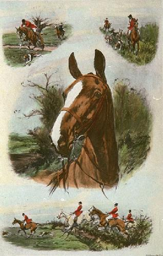 A Keen Sportsman (Restrike Etching) by George Wright
