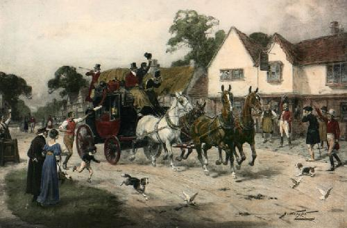News of Waterloo, June 1815 (Restrike Etching) by Wright