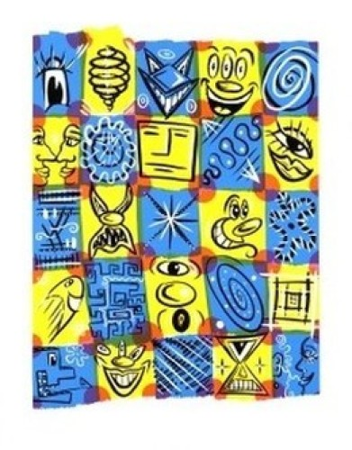 Faces, 1998 by Scharf