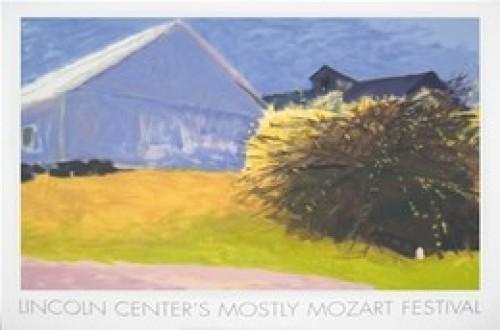 Barn and Forsythia III, 2003 by Wolf Kahn