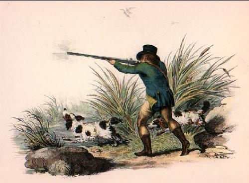 Duck Shooting - Plate I (Restrike Etching) by Anonymous
