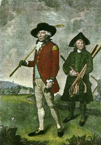 Blackheath Golfer  (Restrike Etching) by Lemuel Francis Abbott