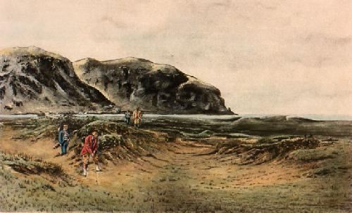 A Difficult Bunker (Restrike Etching) by Douglas Adams