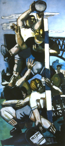 Football Players by Max Beckmann