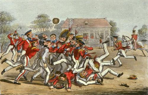 Football (Restrike Etching) by Robert Cruikshank