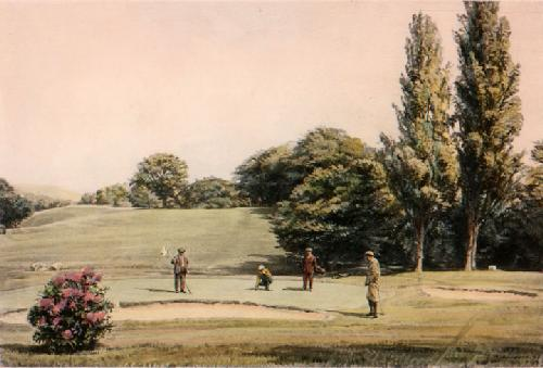 Holing Out (Restrike Etching) by Arthur Weaver