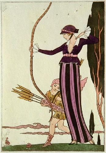 The Archer (Restrike Etching) by Anonymous