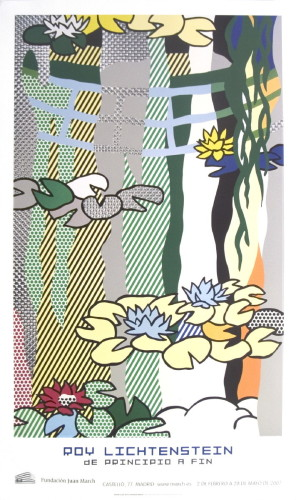 Water Lilies with Japanese Bridge by Roy Lichtenstein