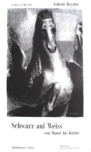 Schwarz auf Weiss by Odilon Redon