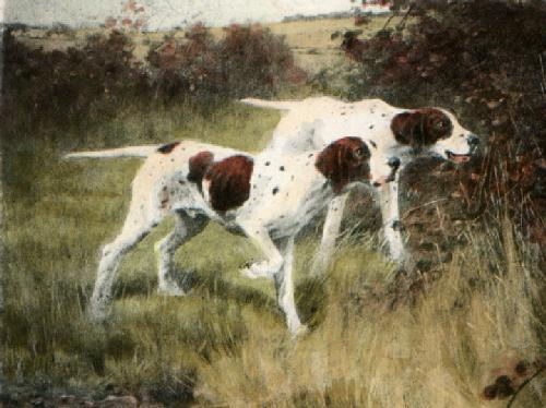 Pointers (Restrike Etching) by Thomas Blinks