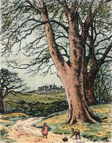 Spring (Restrike Etching) by Frederick Albert Slocombe