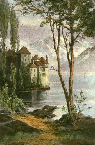 Castle of Chillon (Restrike Etching) by Smith