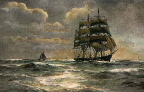 Off the Eddystone (Restrike Etching) by Wilde Parsons
