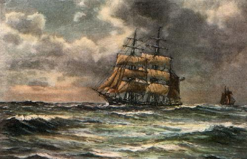 Beating to Windward (Restrike Etching) by Wilde Parsons