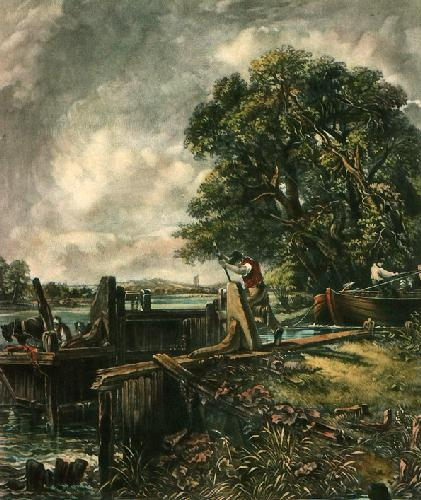 The Lock (Restrike Etching) by John Constable