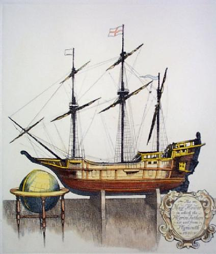 The Mayflower (Restrike Etching) by Anonymous