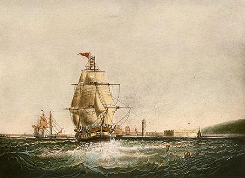 Outward Bound (Restrike Etching) by Samuel Walters