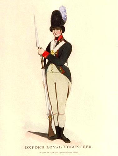 Oxford Loyal Volunteer (Restrike Etching) by Anonymous