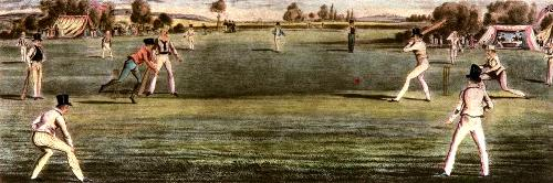 The Cricket Match (Restrike Etching) by Anonymous