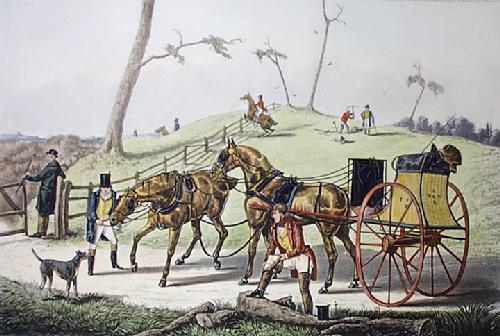 Sporting Tandem : At Cover (Restrike Etching) by Henry Alken