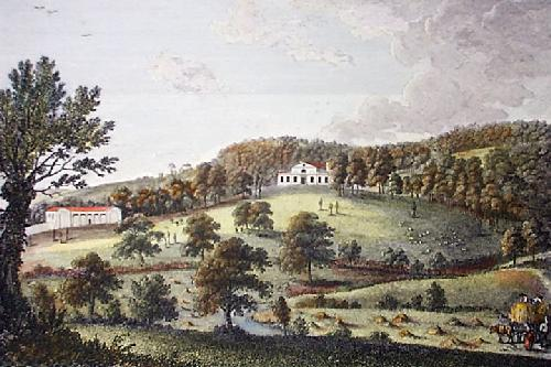 Lodge, South Park, near Penshurst (Restrike Etching) by Thomas Milton