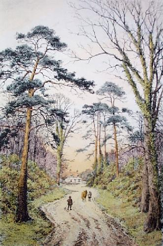 The End of The Day (Restrike Etching) by Frederick Albert Slocombe