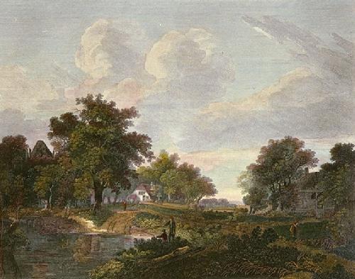 Hobima View (Restrike Etching) by Meindert Hobbema