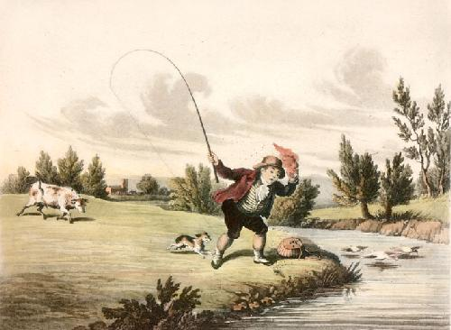 McLeans Fishing - Plate VI (Restrike Etching) by Anonymous