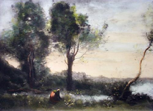 The Wood Gatherers (Restrike Etching) by Jean-Baptiste-Camille Corot