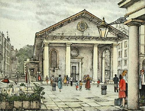 St. Pauls, Covent Garden (Restrike Etching) by Lawrence Josset