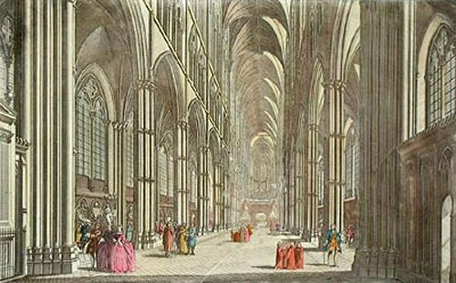 Westminster Abbey (Restrike Etching) by Thomas Bowles